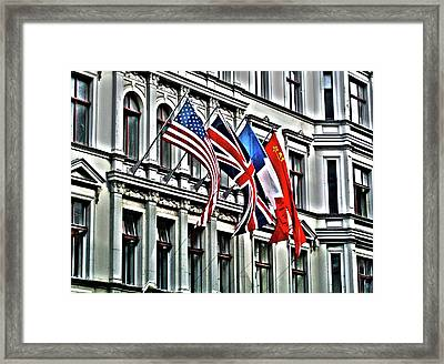 Checkpoint Charlie Framed Print by Juergen Weiss