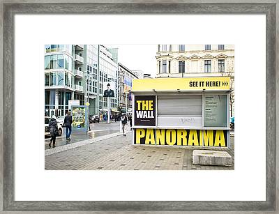 Checkpoint Charlie Framed Print by Tom Gowanlock