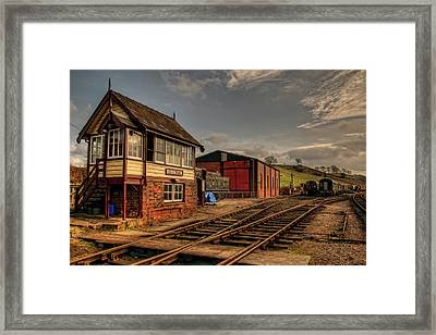 Cheddleton Signalbox And Depot Framed Print