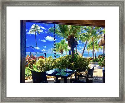 Cheeca Lunch Framed Print