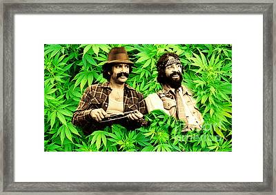 Cheech Marin And Tommy Chong Framed Print by Pd
