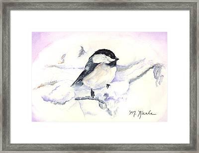 Cheeky Chickadee Framed Print