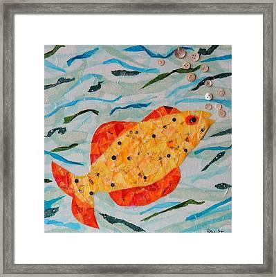 Cheeky Fish #3 Framed Print by Ruth E Warren