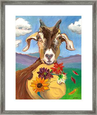 Cheeky Goat Framed Print by Susan Thomas