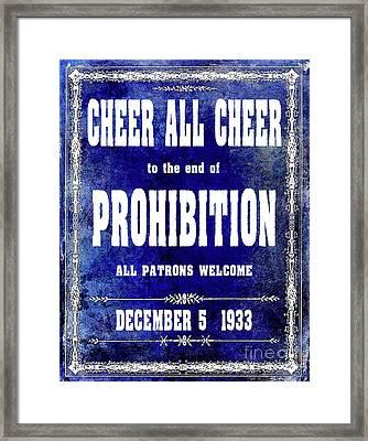 Cheer All Cheer Blue Framed Print by Jon Neidert