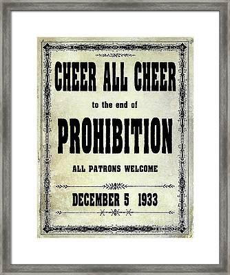 Cheer All Cheer Framed Print