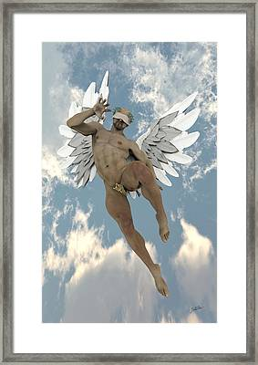 Cheerful Angel Framed Print