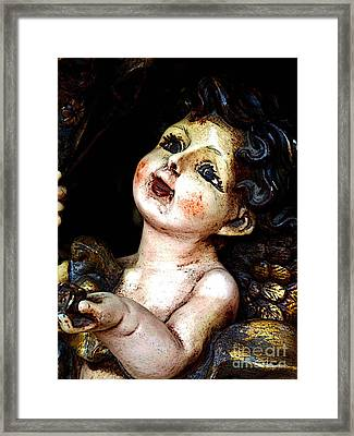 Cheerful Cherub Framed Print by Mexicolors Art Photography