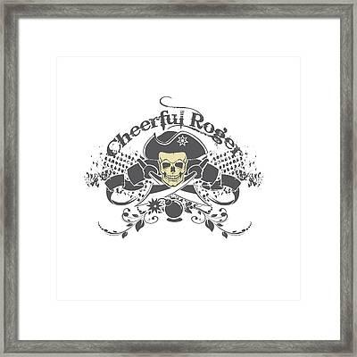 Cheerful Rodger Framed Print