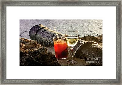 Cheers Framed Print by Adriana Zoon