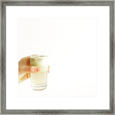 Cheers, Happy Humpday! #juice #raw Framed Print