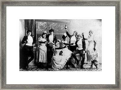Cheers Ladies Framed Print by Jon Neidert