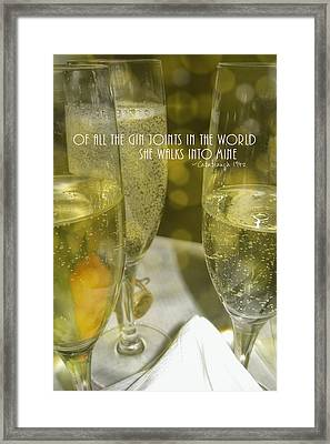 Cheers Quote Framed Print by JAMART Photography