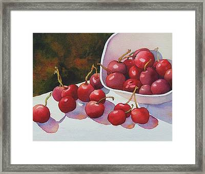 Cheery Cherries Framed Print