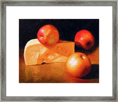 Cheese And Apples Framed Print by Timothy Jones