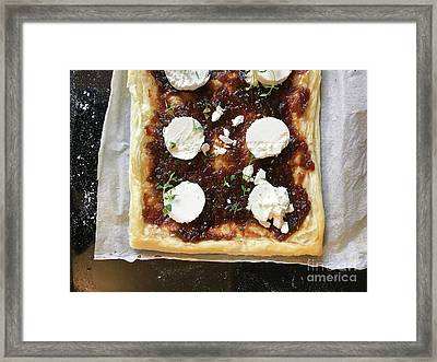 Cheese And Chutney Pie Framed Print