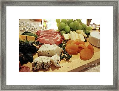 Cheese And Meat Framed Print