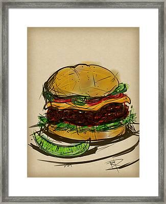Cheese Burger Framed Print