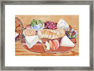 Cheese Plate For A Party Framed Print