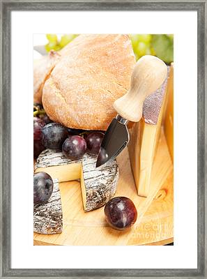 Cheese Plate Framed Print