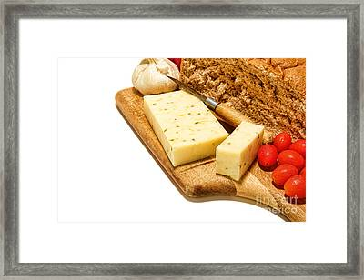 Cheese Snack Framed Print