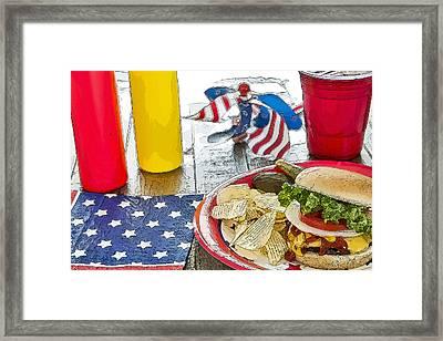 Cheeseburger Cheeseburger Framed Print by LeeAnn White