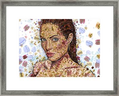 Cheeseburger Jolie Framed Print
