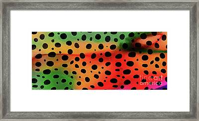 Cheetah Animal Print 5 Mug Framed Print by Edward Fielding