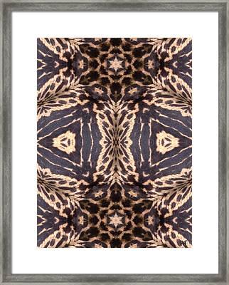 Cheetah Print Framed Print by Maria Watt