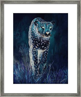 Cheetah Running Framed Print by Morgan Fitzsimons