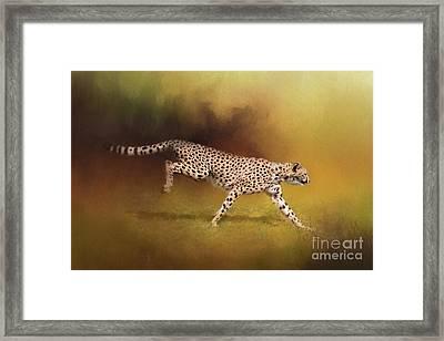 Cheetah Running Framed Print