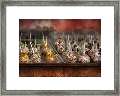 Chef - Caramel Apples For Sale  Framed Print by Mike Savad