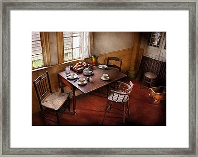 Chef - Kitchen - Kids Breakfast Is Ready  Framed Print