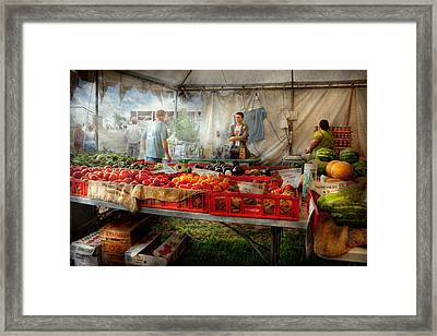 Chef - Vegetable - Jersey Fresh Farmers Market Framed Print by Mike Savad
