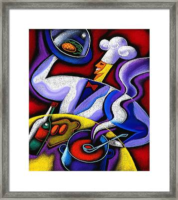 Chef Framed Print by Leon Zernitsky