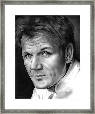 Chef Ramsay Framed Print by Greg Joens