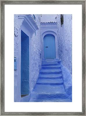 Chefchaouen Morocco Framed Print by Liz Pinchen