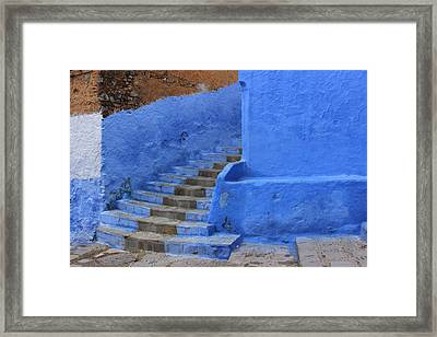 Framed Print featuring the photograph Chefchaouen by Ramona Johnston
