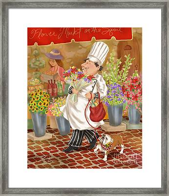 Chefs Go To Market II Framed Print by Shari Warren