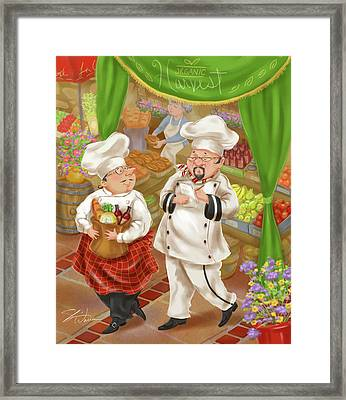 Chefs Go To Market IIi Framed Print by Shari Warren