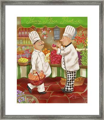 Chefs Go To Market Iv Framed Print by Shari Warren