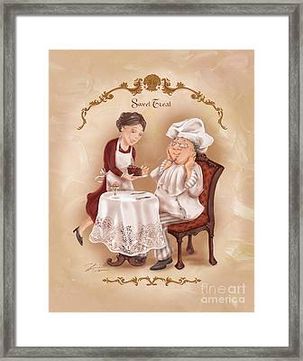 Chefs On A Break-sweet Treat Framed Print by Shari Warren