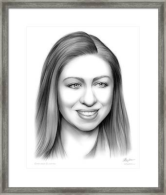 Chelsea Clinton Framed Print by Greg Joens