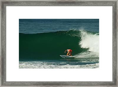 Chelsea Roett Surfer Girl Framed Print by Waterdancer