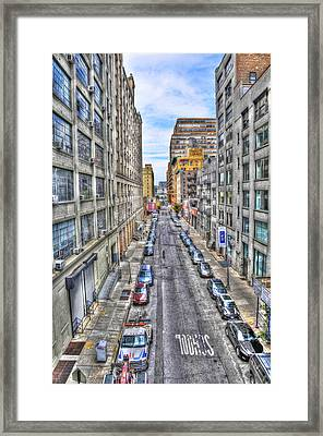 Chelsea Street From The High Line Framed Print by Randy Aveille