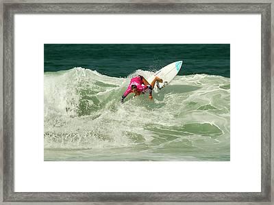 Chelsea Tuach Surfer Girl Framed Print by Waterdancer