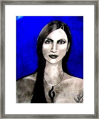 Framed Print featuring the drawing Chelu by Michelle Dallocchio