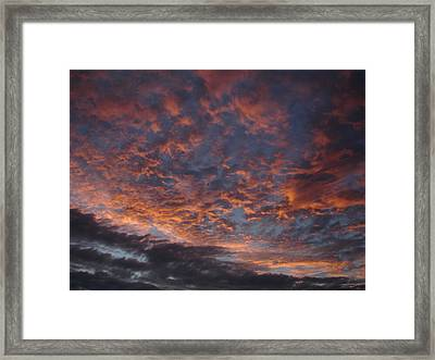 Chemical Sky Framed Print by Chad Natti