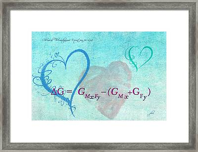 Chemical Thermodynamic Equation For Love Framed Print