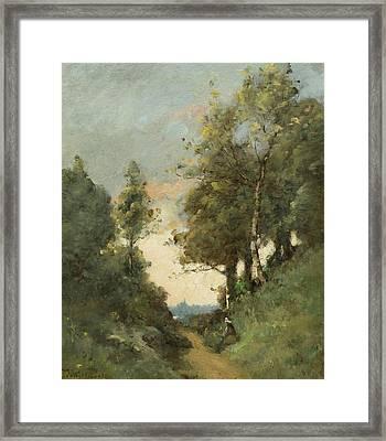 Chemin Creux A Quimper Framed Print